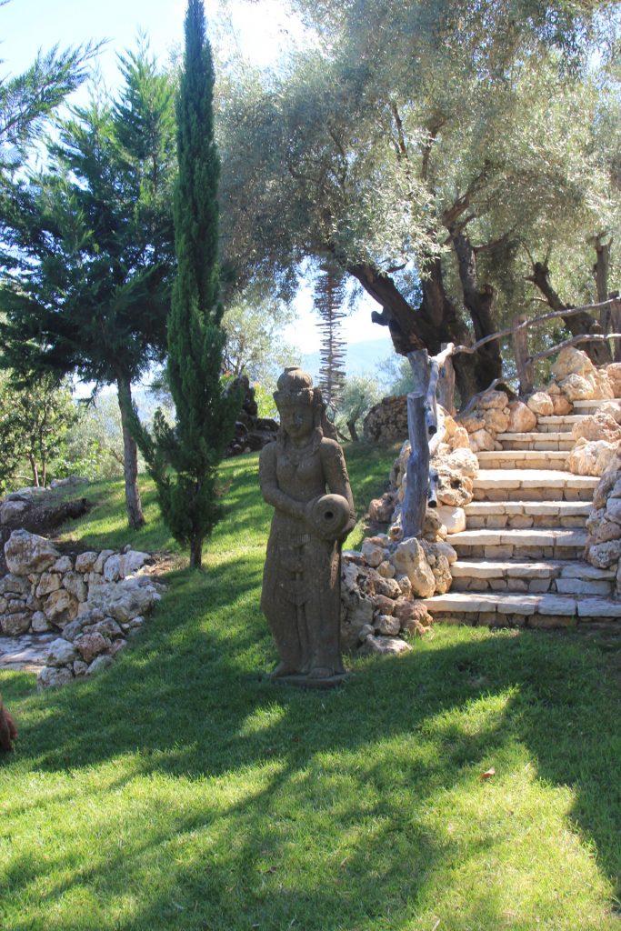 Outside of a Yoga studio in Greece